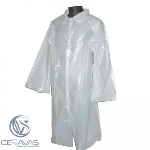 visitor polyethyene coat with button