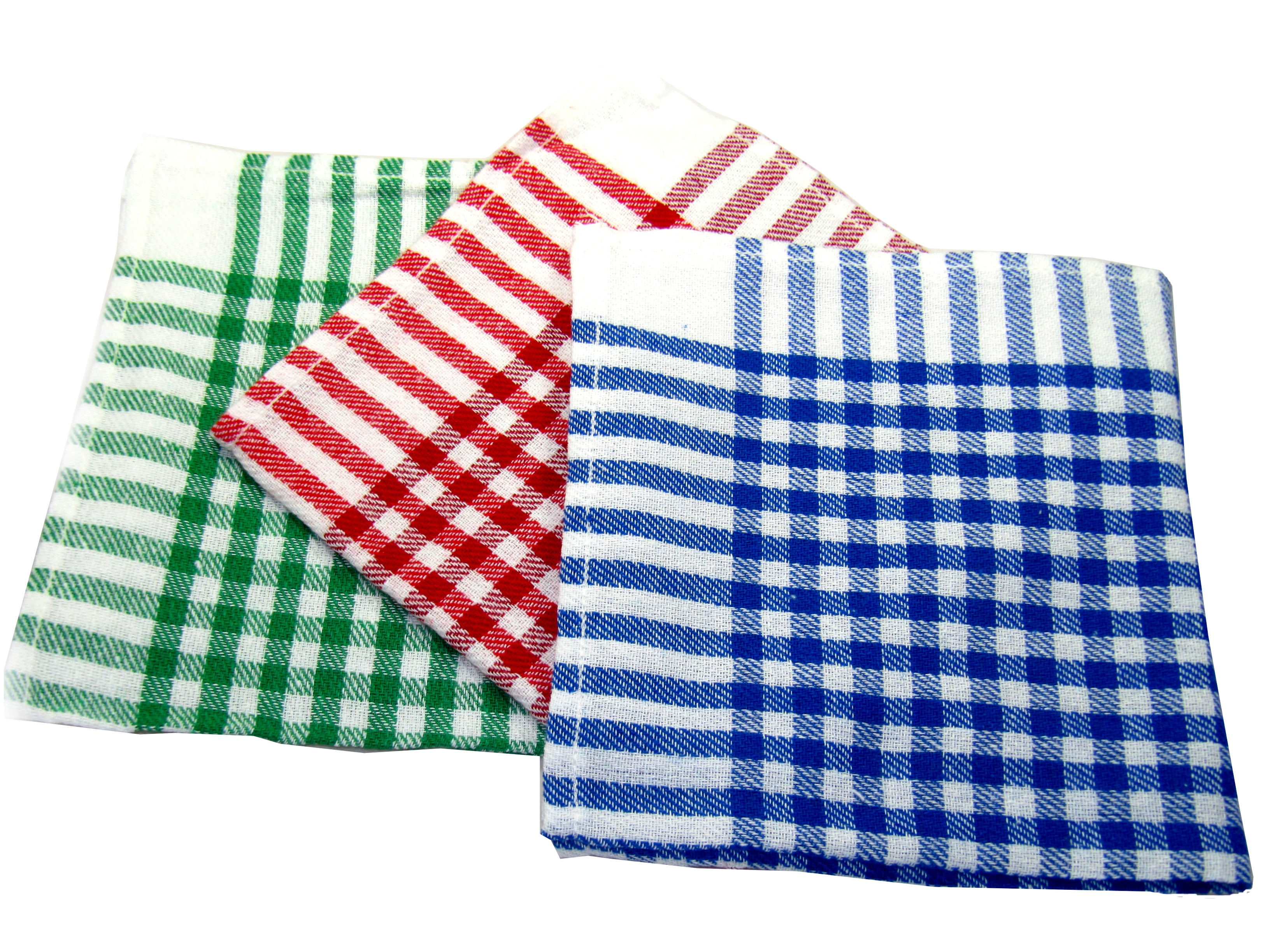 Red, green or blue kitchen towels 45cmx45cm