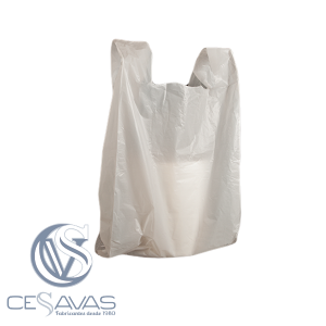 WHITE PLASTIC CARRIER BAGS BCA002