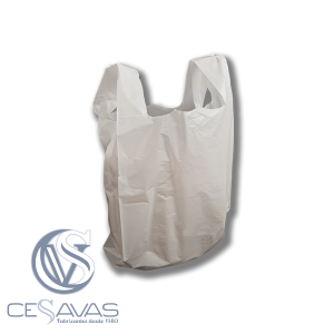WHITE PLASTIC CARRIER BAGS BCA005