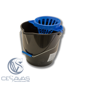 BLACK AND BLUE MOP BUCKET