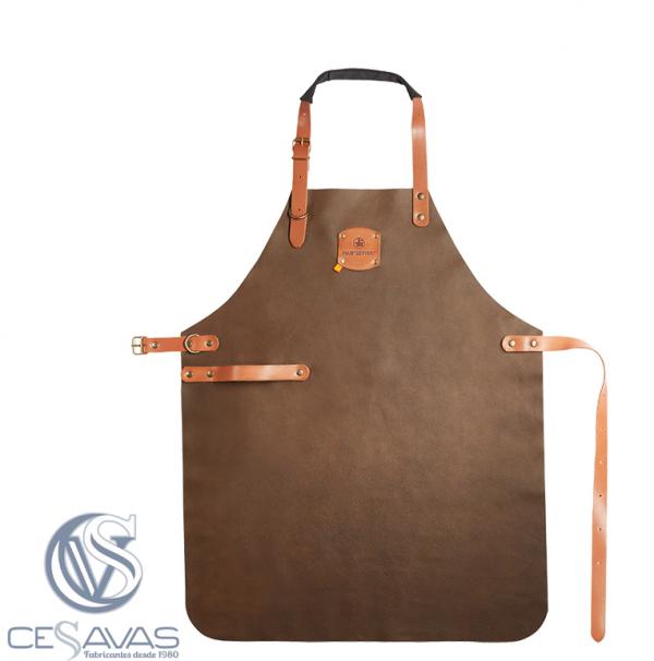 Bronze leather apron felix S