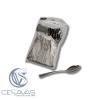 cucharas de plástico metalizadas