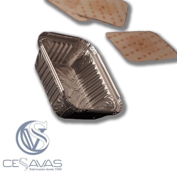 envase rectangular de aluminio