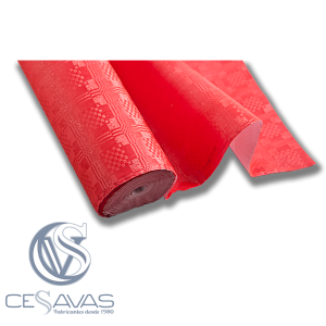 Red Laminated tablecloth MAPR003