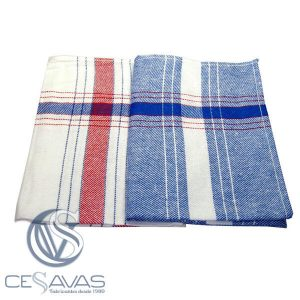 kitchen t.towel white and blue 55 x 55