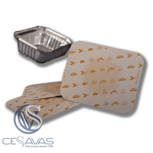 cardboard lid for aluminum packaging 1