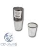 vasos de plastico con borde metalizado