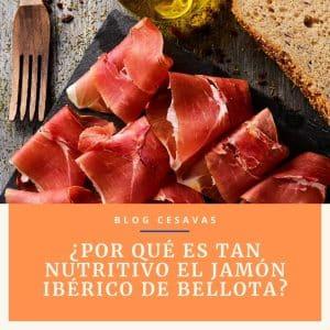 Propiedades nutricionales del jamón ibérico de bellota